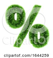3d Green Grass Percent Symbol