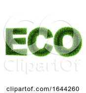 3d Green Grass Eco Symbol
