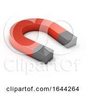 3d Magnet On White Background