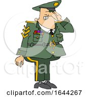 Cartoon Saluting Military Man