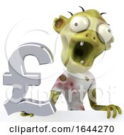 3d Green Zombie On A White Background