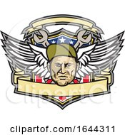 American Crew Chief Shield Mascot