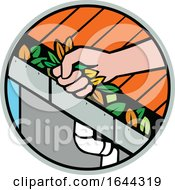 Hand Cleaning Roof Rain Gutter Icon