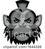 Chimpanzee Wearing Mohawk Mascot by patrimonio