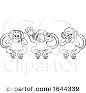 Monkeys See Hear Speak No Evil Cartoon Characters