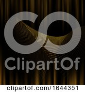 Abstract Background Of Golden Dots