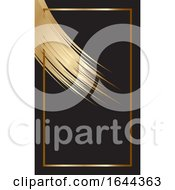 Golden Paint Stroke Business Card Design