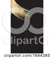 Golden Paint Stroke Business Card Design