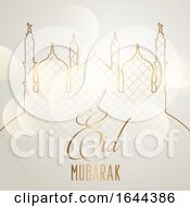 Elegant Eid Mubarak Background by KJ Pargeter