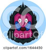 Cartoon Monkey With Pink Face Vector Illustration On White Background by Morphart Creations
