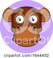 Cartoon Chimpanzee Face Avatar by Morphart Creations