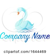 Blue Swan And Sample Text