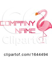 Pink Flamingo And Sample Text