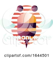 Bee Mascot With Sample Text And A Striped Oval by Morphart Creations