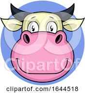 Poster, Art Print Of Cartoon Happy Cow Vector Illustration On White Backgorund