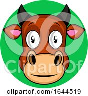 Cartoon Brown Cow Vector Illustration On White Backgorund by Morphart Creations