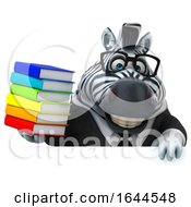 3d Business Zebra On A White Background by Julos