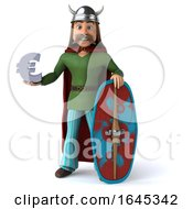 3d Gaul Warrior On A White Background