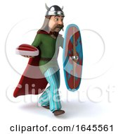 Poster, Art Print Of 3d Gaul Warrior On A White Background