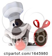 3d Jack Russell Terrier Dog Chef On A White Background