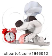 3d Chef Jack Russell Terrier Dog On A White Background