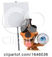 3d Orange Dog On A White Background by Julos