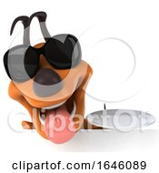 3d Orange Dog On A White Background by Julos