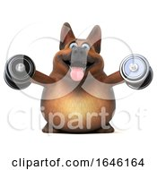 3d German Shepherd Dog On A White Background by Julos
