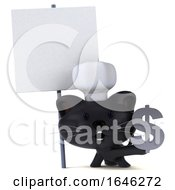 3d Black Kitten Chef On A White Background