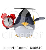 3d Penguin Graduate On A White Background