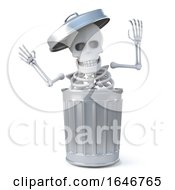 3d Skeleton Was In The Trash Can All The Time