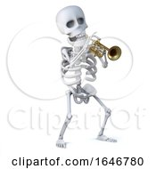3d Skeleton Playing A Trumpet