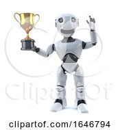 3d Robot Wins The Gold Cup Trophy