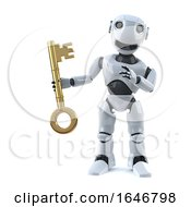 3d Robot Has The Key
