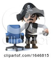 3d Cute Cartoon Pirate Captain Has A Vacancy