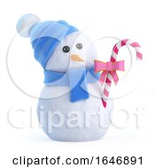 3d Snowman Has Candy by Steve Young