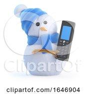 3d Snowman Sends A Text by Steve Young