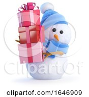 3d Snowman Bearing Gifts by Steve Young