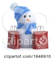 3d Snowman Has Been To The Sales by Steve Young