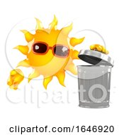 3d Sun Throws Out The Rubbish