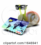 3d Snail Spends With His Credit Card