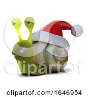 3d Santa Snail by Steve Young