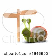 3d Crossroads Snail by Steve Young