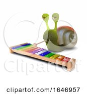 3d Snail Plays Xylophone by Steve Young