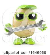 3d Potato Mechanic With Spanner