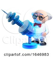 3d Mad Scientist With His Death Ray Gun