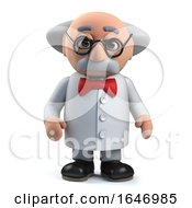3d Mad Scientist Professor Character