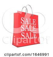 3d Red Shopping Bag From The Sales
