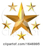 3d Gold Stars by Steve Young