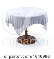 Poster, Art Print Of 3d Round Table With Cloth